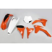 KIT PLASTICHE COMPLETO KTM SX 2011 2012 / SX F 2011 2012 ARANCIO / BIANCO