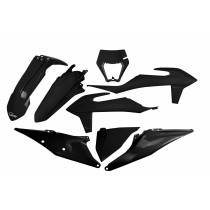 KIT PLASTICHE COMPLETO KTM EXC / EXC F TUTTI I MODELLI 2020 2021 NERO - CON PORTAFARO