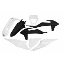 KIT PLASTICHE COMPLETO KTM EXC / EXC F TUTTI I MODELLI 2020 2021 SIX DAYS BIANCO NERO - CON PORTAFARO