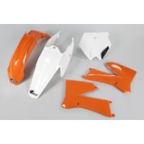 KIT PLASTICHE COMPLETO KTM SX 85 2006 2007 2008 2009 2010 2011 2012 ARANCIO BIANCO