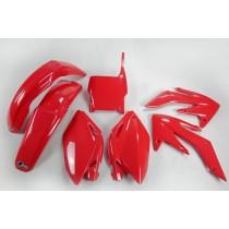 KIT PLASTICHE COMPLETO HONDA CRF 250 R 2004 2005 ROSSO