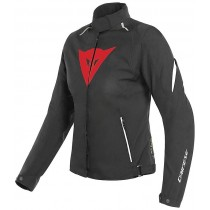 GIUBBOTTO GIACCA DAINESE DONNA LAGUNA SECA 3 LADY D DRY D-DRY NERO ROSSO BIANCO
