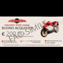 BUONO REGALO MACCHIAMOTO 200 €