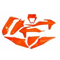 KIT PLASTICHE COMPLETO KTM EXC / F TUTTI I MODELLI 2020 2021 ARANCIO - CON PORTAFARO