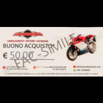 BUONO REGALO MACCHIAMOTO 50 €
